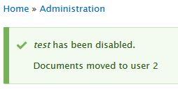 cancel user submit alert